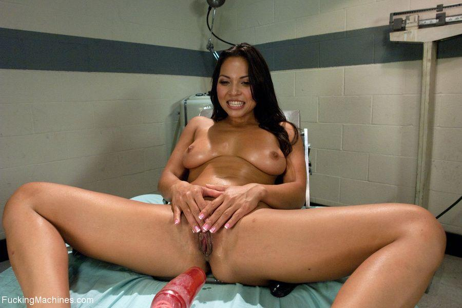 Seldom.. Hot latina fucks a machine for