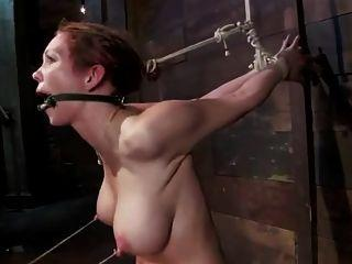 Slow struggeling penetration bondage