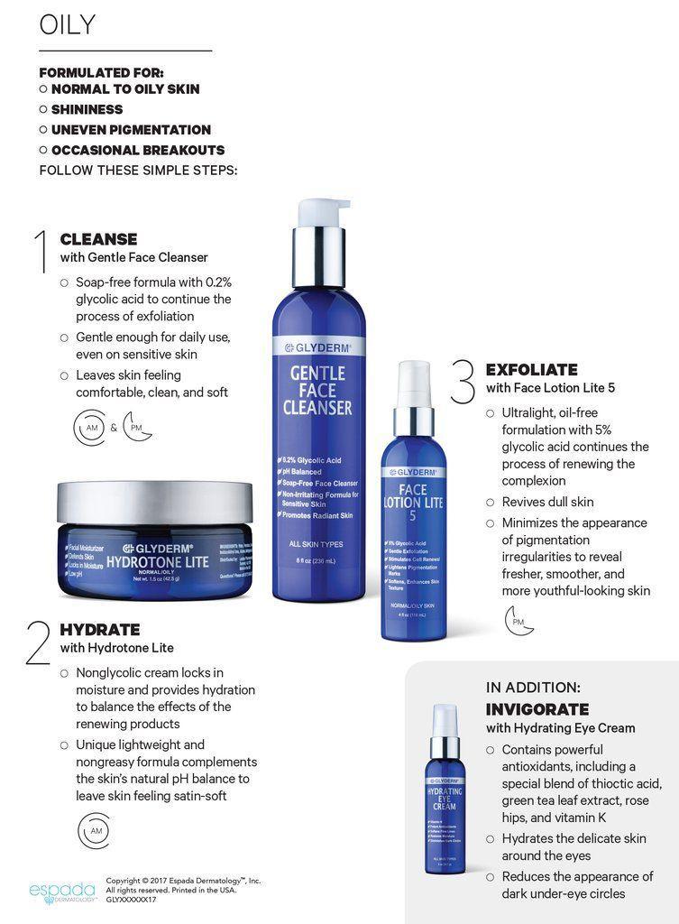 Glyderm facial cleanser
