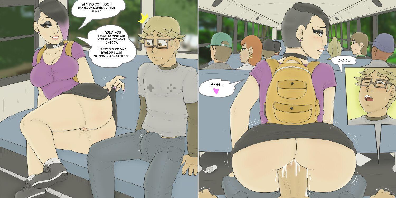 Hentai on the bus