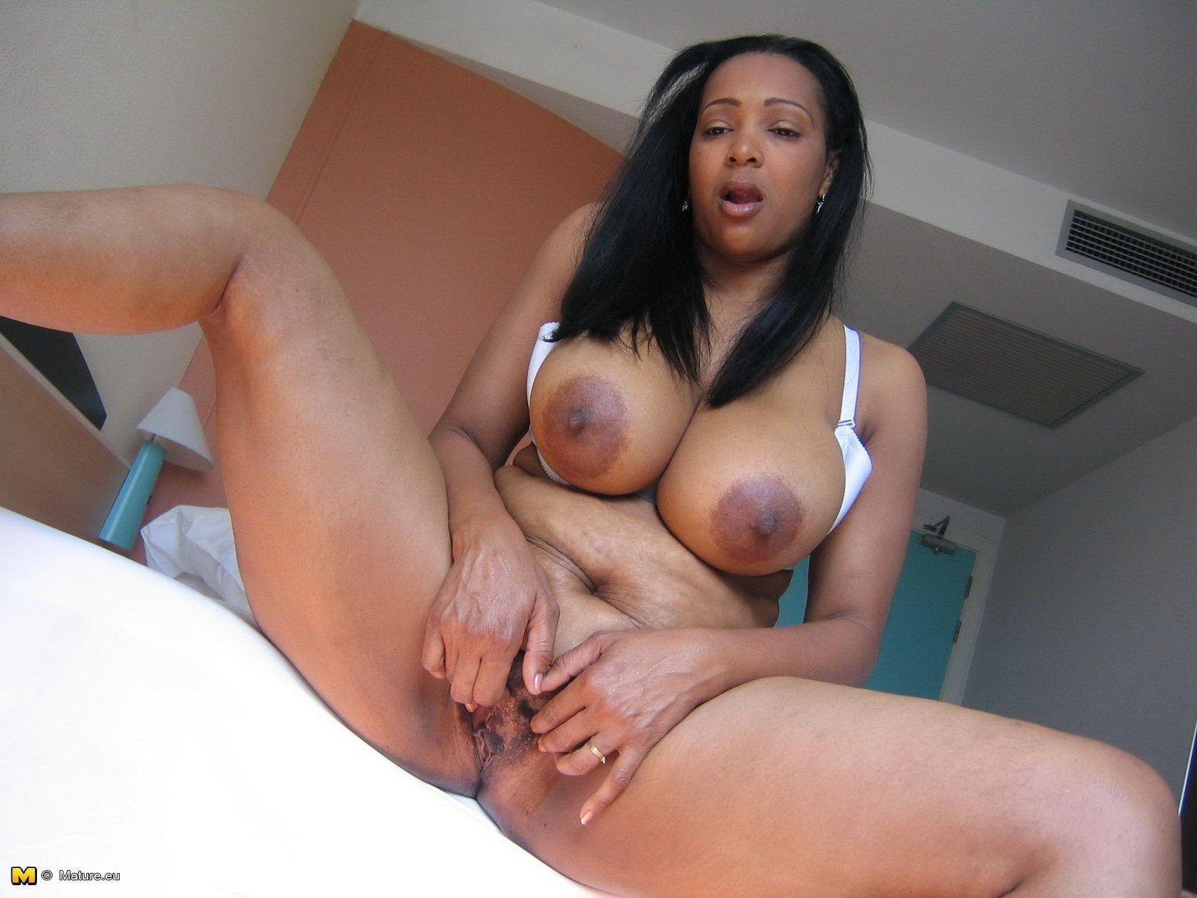 Black women of big naked breast