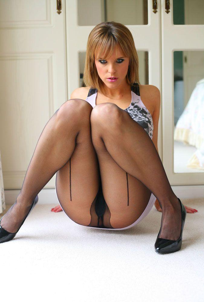 Glamour model pantyhose