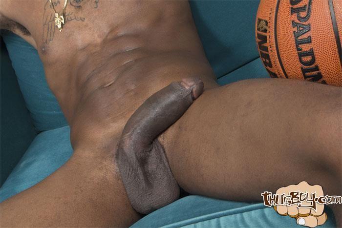 Black uncut penis