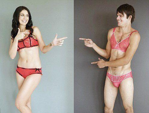Bisexual man pantie wearing womens
