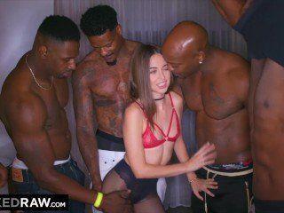 With Interracial gang bang movie very pity