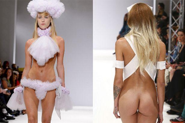 Runway models nude the