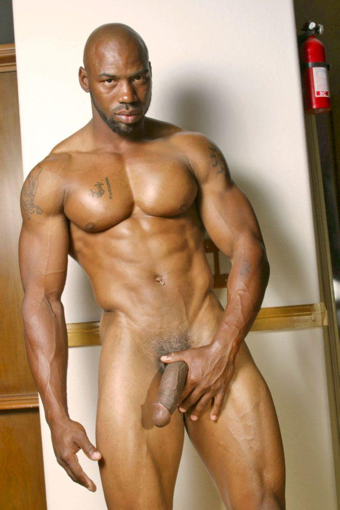Hung black guy swings his huge cock