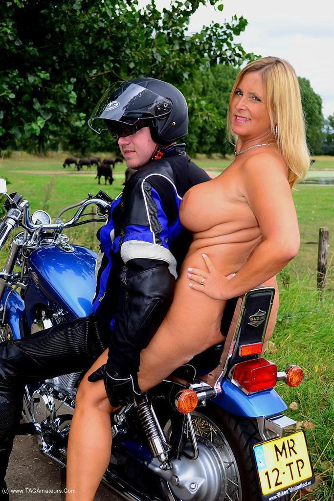 Motorcycles and topless milfs