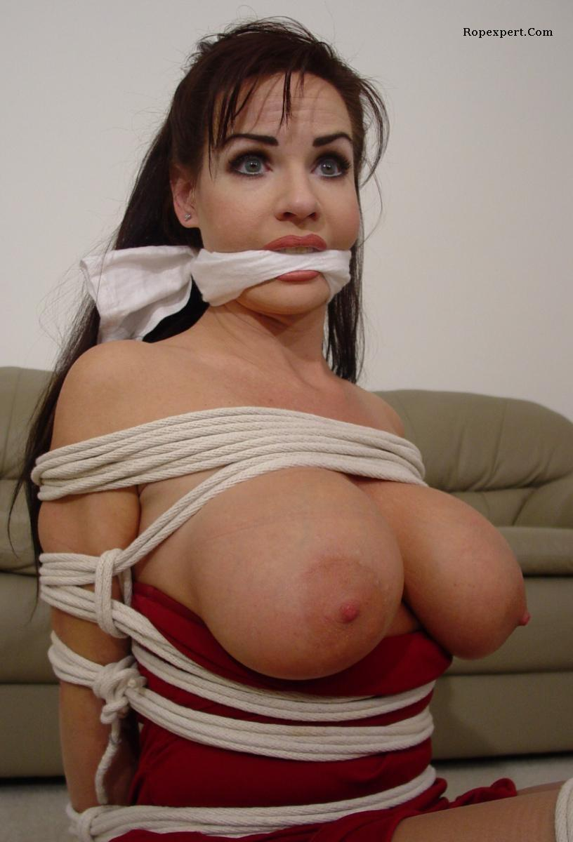 Really big boob bondage was and