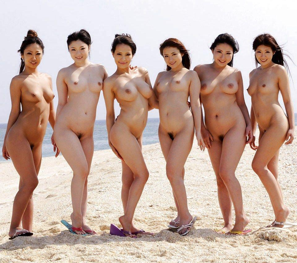 asian nude group