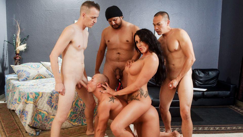 Bisexual gang bang