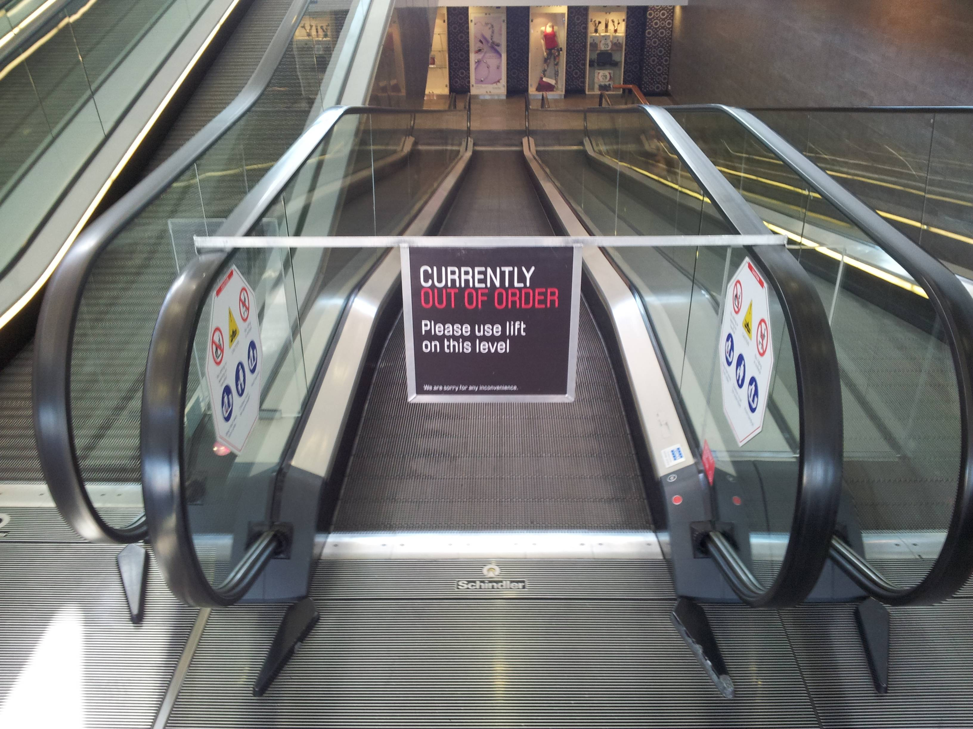Broken escalator joke