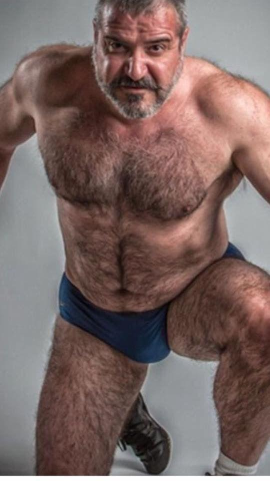 Assed gay hairy man older