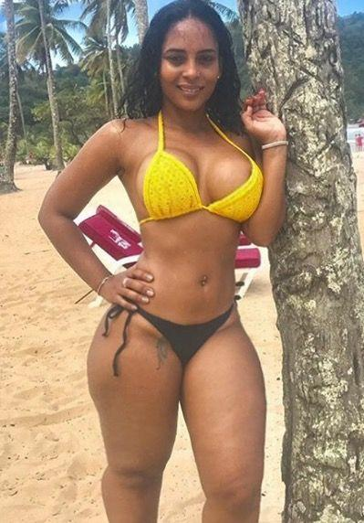 Ebony with tan lines
