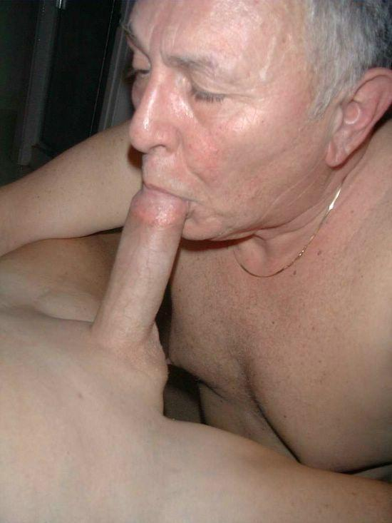 Sucking grandpas big dick