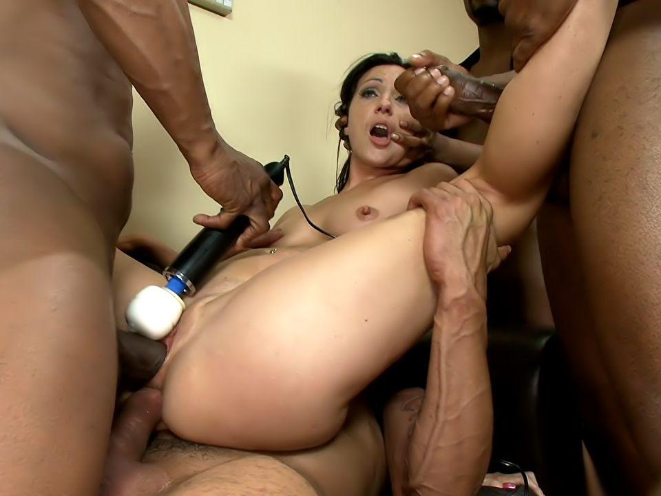 Interracial gangbang sex tubes