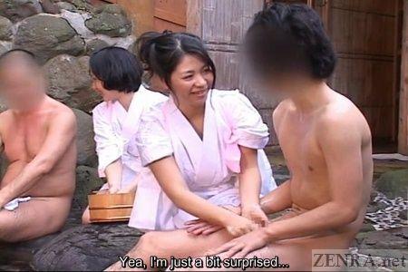 Nackte japanische Frauen im heißen Bad, Zoll Hintern Galerien