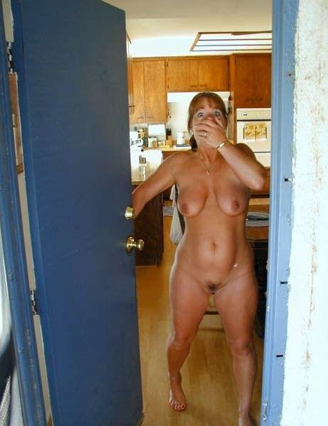 Sexy moms half naked
