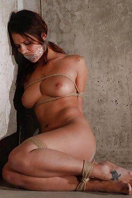 Scared girl tied up nude, anal sex what is the attraction
