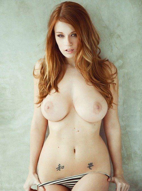 Redhead big tits porn