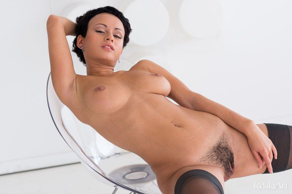 Something is. Pics of hot naked girls with short hair are