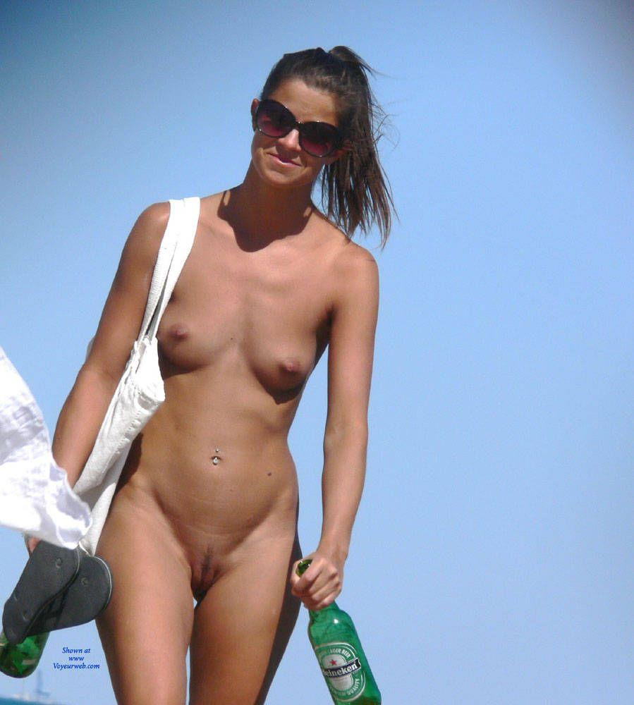 Simply remarkable nudist at the beach and shaved
