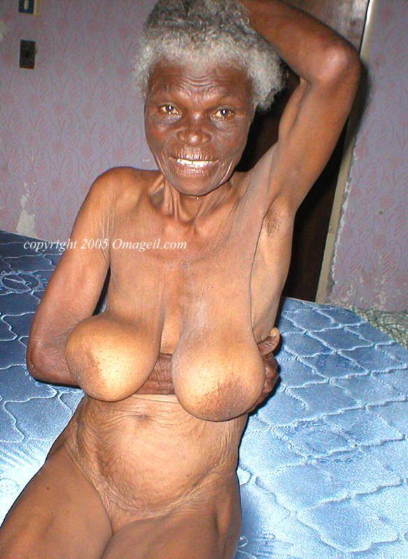 naked black granny