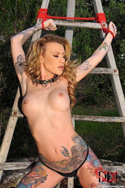 Outdoor lesbian bondage sex assured