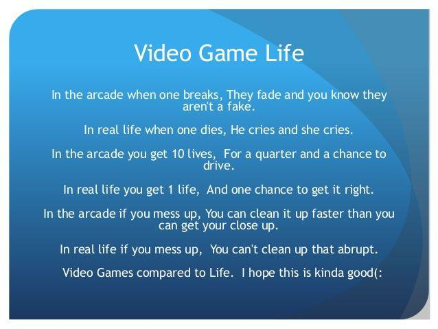 best of Games Poems about video