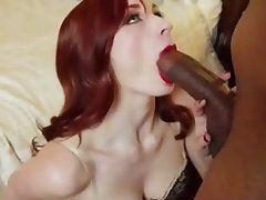 LEA: Ginger redhead wife black cock